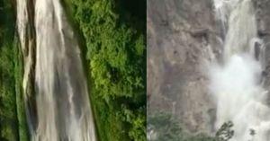 Clip: Cảnh thác nước Hòa Bình trước và sau khi sạt lở vùi 18 người