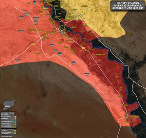 Nga yểm trợ, quân đội Syria dồn dập tấn công IS quanh tử địa Deir Ezzor