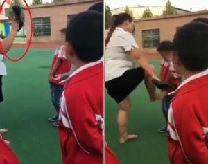 Cô giáo tiểu học vung chân đạp, vụt tay học sinh bằng giày cao gót