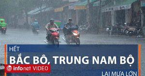 Hết Bắc Bộ, Trung và Nam Bộ lại mưa lớn