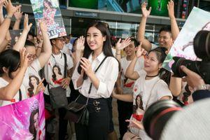 Hoa hậu Mỹ Linh bất ngờ khi nhiều fan tiễn đi chinh phục Miss World 2017