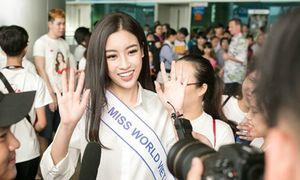 Mỹ Linh mặc sơ mi trắng đẹp hút mắt ở sân bay
