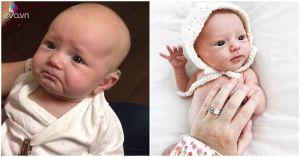 Bé sơ sinh khiếm thính đang gây sốt MXH ngoài đời thực còn đáng yêu hơn nhiều