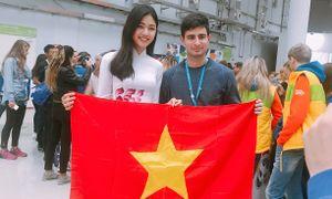 Từ LB Nga, Á hậu Thanh Tú làm clip động viên Mỹ Linh dự Miss World