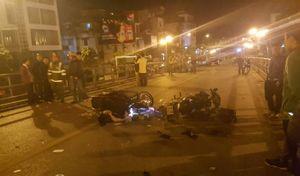 Tai nạn trên cầu vượt Thái Hà, một người tử vong