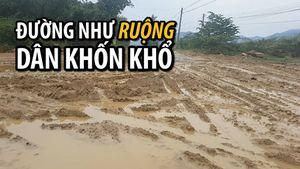 Khốn khổ vì đường liên xã sình lầy như ruộng ở Nha Trang