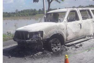 Họp báo vụ con gái thuê người đốt xe làm cha chết