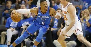 BIG 3 rực sáng, Thunder 'hủy diệt' Knicks ở trận ra quân NBA 2017/18
