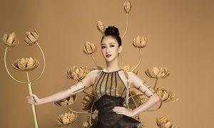 Trang phục dân tộc cầu kỳ của Hà Thu tại Hoa hậu Trái đất 2017