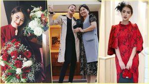 Thanh Hằng nhí nhố bên mẹ, Hương Tràm cười tít mắt khi nhận được hoa nhân ngày 20/10