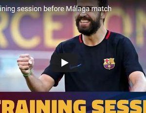 Buổi tập vô cùng phấn khởi của Barca trước trận Malaga