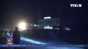 Hiện trường vụ tấn công bằng rocket gần trụ sở NATO ở Afghanistan