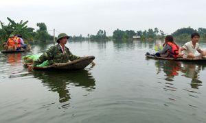 Hà Nội: Hình ảnh sau nhiều ngày mưa lũ gây ngập lụt ở Chương Mỹ