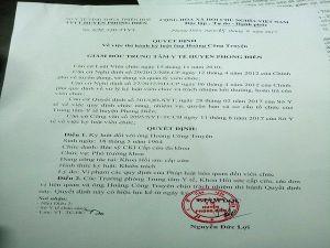 Đề nghị cách chức người ký quyết định xử phạt bác sĩ Truyện