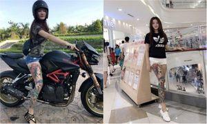 Cô gái Sài Gòn xăm kín chân, mê xe độ đầy phong cách