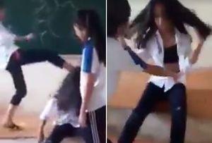 Đình chỉ học một số nữ sinh đánh bạn, quay clip