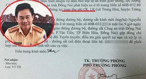 Giấy mời tài xế trả tiền lẻ qua BOT Biên Hòa lên làm việc do Thượng tá Võ Đình Thường ký có vấn đề?