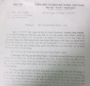 Bộ trưởng TT-TT yêu cầu rút phạt bác sĩ Truyện vụ 'nói xấu' Bộ trưởng Y tế