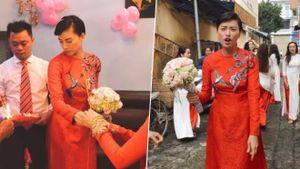 Ngô Thanh Vân gây xôn xao khi diện áo dài đỏ, xuất hiện cực 'nhắng' trong một đám hỏi