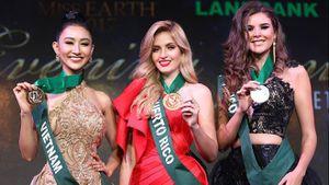 Hà Thu giành giải Đồng phần thi Trang phục Dạ hội ở Hoa hậu Trái đất