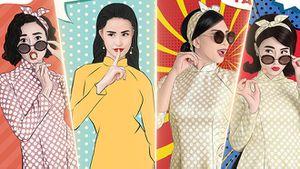 Đông Nhi, Diễm My 9x chụp ảnh pop-art cùng 'mẹ con' Ngô Thanh Vân - Lan Ngọc