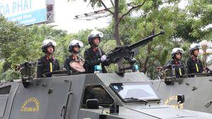 Xe đặc chủng hùng hậu diễu hành trên đường phố Đà Nẵng trước APEC 2017