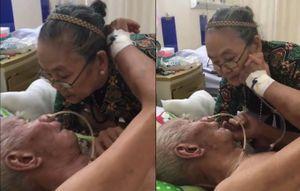 Khoảnh khắc cụ bà dặn dò chồng trên gường bệnh lay động dân mạng