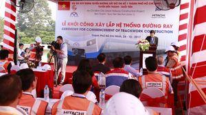 Clip: Khởi công xây lắp hệ thống đường ray tuyến metro Bến Thành-Suối Tiên