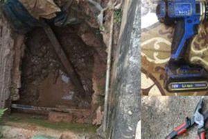 Bắc Giang: Cả tháng đào hầm 6m trộm gần 2 tỷ
