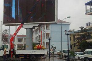 Lắp đặt nhiều màn hình LED cỡ lớn để cổ vũ đội tuyển U23 Việt Nam