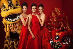 Top 3 Hoa hậu Hoàn vũ Việt Nam nổi bật với bộ ảnh 'Cung chúc tân xuân'