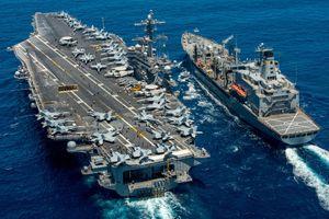 Biển Đông: Tàu sân bay Mỹ Carl Vinson tập tác chiến cùng hải quân Nhật