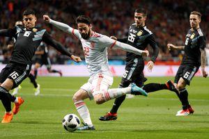 Messi vắng mặt, Argentina bị Tây Ban Nha hạ nhục