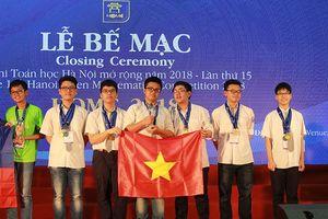 55 học sinh đạt giải trong kỳ thi Olympic Toán Hà Nội mở rộng