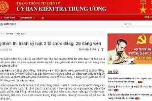 Quảng Bình thi hành kỷ luật 3 tổ chức đảng, 26 đảng viên