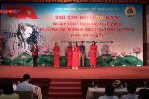 Sôi nổi cuộc thi đua tìm hiểu 70 năm ngày Chủ tịch Hồ Chí Minh Kêu gọi thi đua Ái Quốc