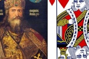 Sự thật về thần kiếm của vị vua duy nhất không có râu trong bộ bài Tây
