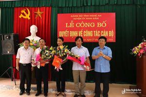 Nam Đàn bổ nhiệm Trưởng ban Tuyên giáo kiêm Giám đốc Trung tâm Bồi dưỡng chính trị 