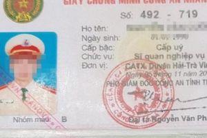 Đề nghị tước danh hiệu CAND đối với thượng úy cắm thẻ ngành vay tiền