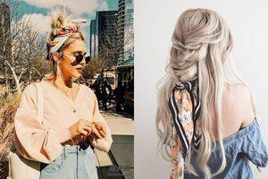Muôn kiểu biến hóa khăn turban làm điệu cho mái tóc giúp các nàng thêm xinh yêu