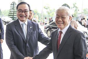 Lãnh đạo Đảng, Nhà nước dự lễ kỷ niệm 10 năm Thủ đô Hà Nội mở rộng địa giới