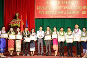 101 học viên Lào tốt nghiệp khóa Tiếng Việt cơ sở
