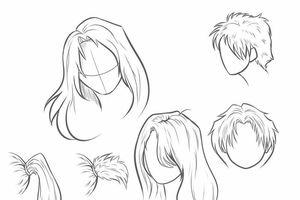 Cách vẽ tóc cho nhân vật anime nữ trong phim hoạt hình