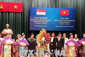 Kỷ niệm 45 năm ngày thiết lập quan hệ ngoại giao Việt Nam - Singapore