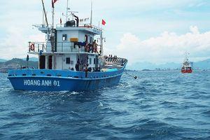 Nhiều tàu cá vỏ thép bị hỏng