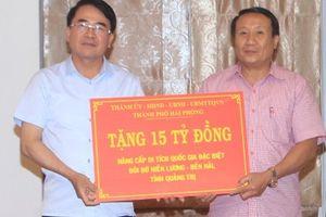 TP Hải Phòng hỗ trợ Quảng Trị 15 tỷ đồng để nâng cấp Khu di tích Đôi bờ Hiền Lương - Bến Hải
