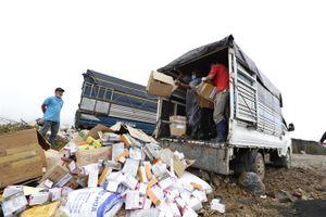 Lâm Đồng tiêu hủy nhiều hàng hóa nhập lậu từ Trung Quốc