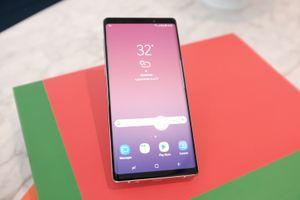 Đây là chiếc điện thoại Galaxy Note 9 của Samsung