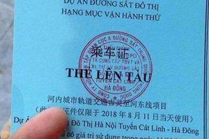 Tổng thầu bị phê bình vì đưa người không có nhiệm vụ lên tàu Cát Linh-Hà Đông