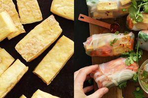 Đậu phụ cuộn rau củ đơn giản, dễ ăn